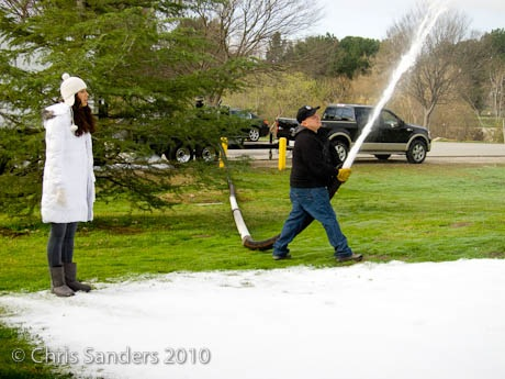 Making snow in Los Angelese