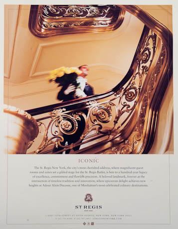 St. Regis Ad by Chris Sanders