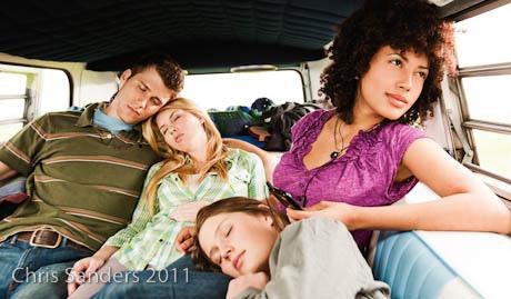 Girl in VW Van